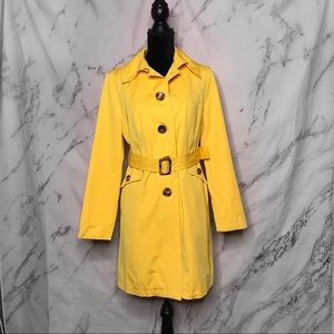 Michael Michael Kors Yellow Belted Trench Coat
